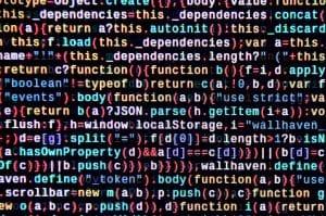 Das Bild zeigt Code in einer Computer-Konsole.