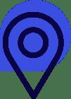 Das Icon zeigt einen Zeiger auf einer Karte, es steht für Standort.