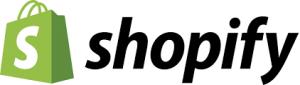 """Das SHopify Logo enthält neben dem Schriftzug auch eine Einkaufstasche in Grün mit weißem """"S"""""""
